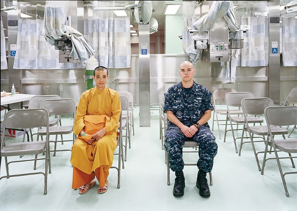 """Patient Admission, US Naval Hospital Ship Mercy, Vietnam, 2010, archival pigment print, 40"""" x 56 ½"""", 2010. Courtesy of Murray Guy, New York."""