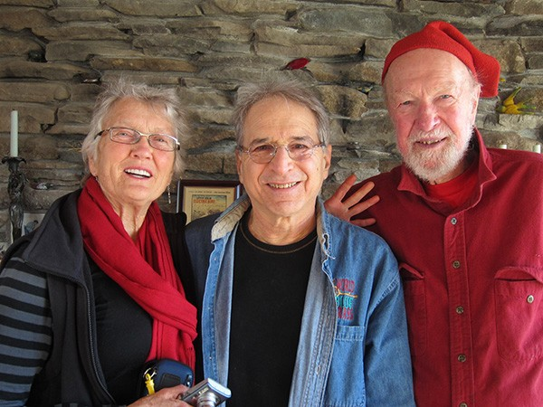 Peggy Seeger, Happy Traum, Pete Seeger.