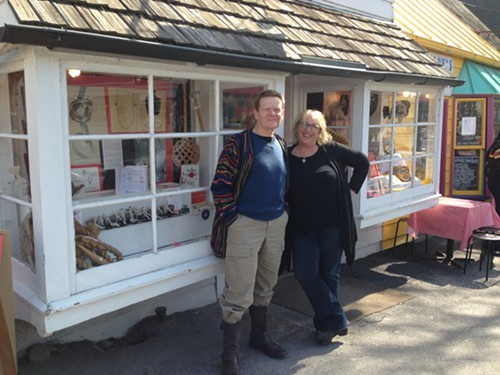 Philippe Petit and Martha Frankel at The Golden Notebook bookstore in Woodstock