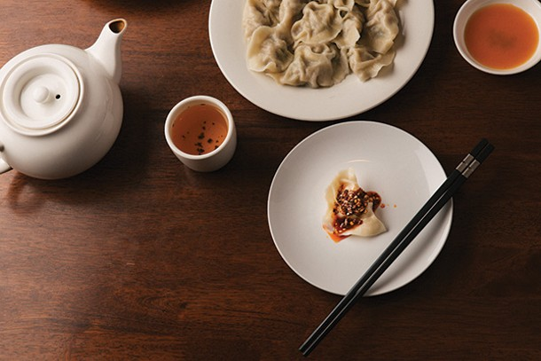 Pork dumplings with spicy sauce at Palace Dumpling in Wappingers Falls. - THOMAS SMITH