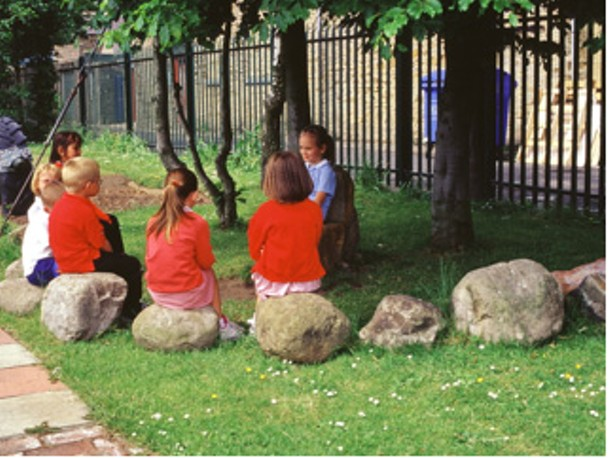 Possible design element for an outdoor classroom at GW.
