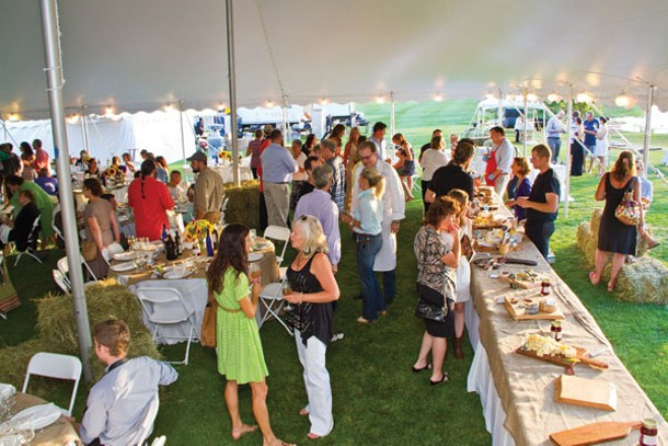 Raising money for future farmers at Hootenanny!, held at the Copake County Club on July 27. Photo by Metro Impact.