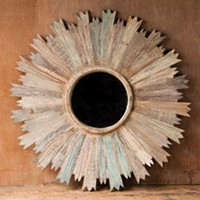 Well-Spent: The Home and Body Edition Reclaimed wood mirror, at Nectar, High Falls