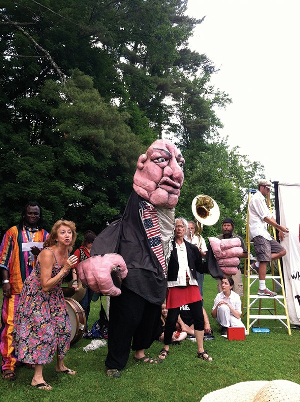 "Redwing Blackbird Puppet Theater performs Bread and Puppet's ""Hallelujah"" at Rosendale Earthfest on June 9 at the Rosendale Recreation Center."