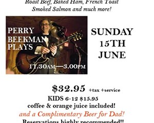 Rhinecliff's legendary Jazz Brunch for Dad & Father's Day Dinner!