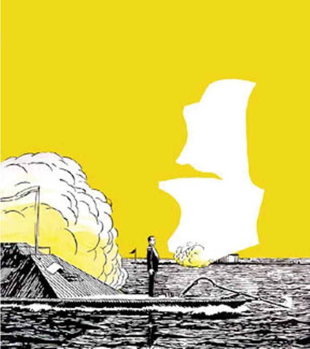 "Richard Deon, Weehawken 2, acrylic on canvas, 58"" x 47"", 2008."