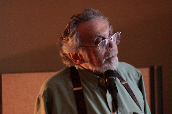 Rogue Egyptologist John Anthony West delivered a presentation at BEAHIVE Kingston on Saturday, September 25 that was attended by 80 people. - JENNIFER MAY