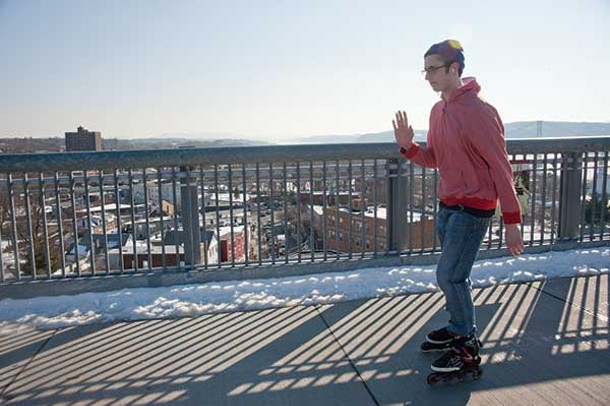 Rollerblading on the Walkway Over the Hudson.