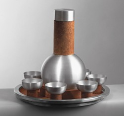 MASCA - Russel Wright designed Spun Aluminum and Cork Cocktail Set, 1930
