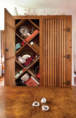 Rustic handmade cabinet circa 1870.