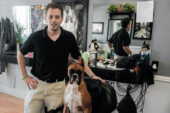 Sean Hilderbrand and Aja at Freshcuts. - ROY GUMPEL