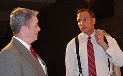 "Sean Marinan and Rob Figueroa in Ron Marquette's ""A Day in Court."""