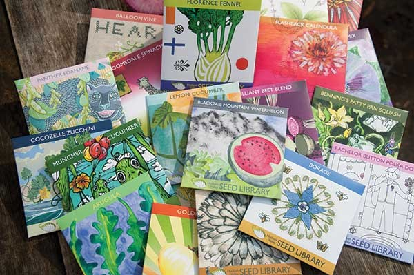 Seed packages designed by local artists. - ROY GUMPEL