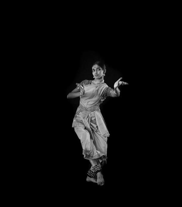 """Shantala Shivalingappa, from the exhibit """"Sculpting Movement and Time: Making Slow Dancing,"""" a behind-the-scenes view of David Michalek's portraits of 46 dancers."""