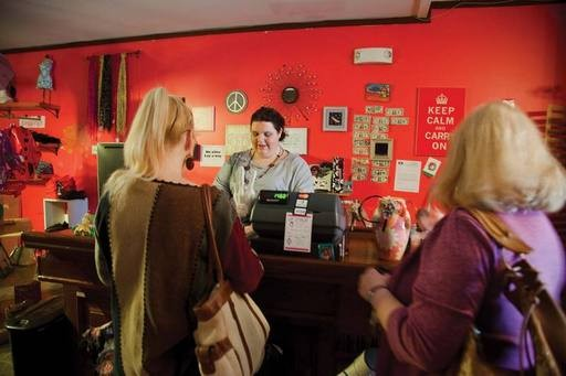 Shoppers at Christine's Closet. - STEFFEN THALEMANN