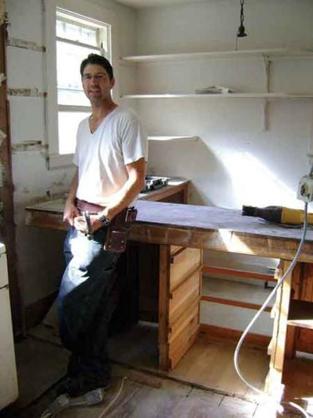 Silas Adams on a job site in Martha's Vineyard.
