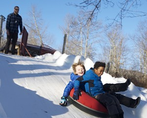 Snow tubing at Frost Valley YMCA