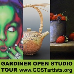 ARTWORK BY: LADY PINK, LYNN IASAACSON & RON SCHAEFER - SPRING 2015 GOST - Gardiner Open Studio Tour