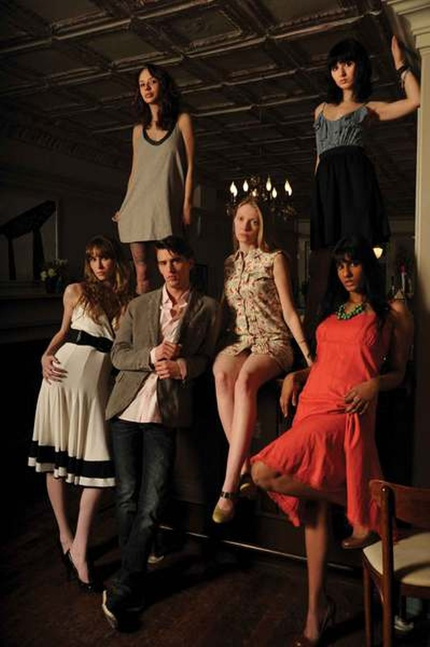 Standing on the bar, from left: Candace Freshko, Zoe West. - From lower left: Laurence Descheine, Evan Chapman, Cassandra Hansen, Shalyni Paiyappilly. - KELLY MERCHANT