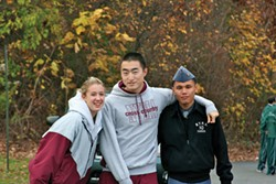 Students from the cross-country team at New York Military Academy.