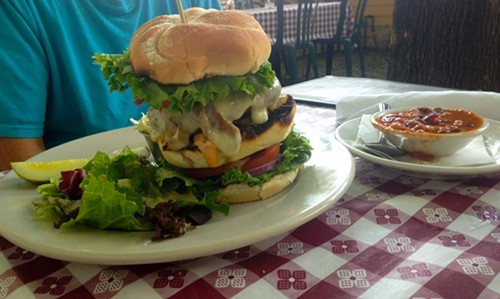 SuperMax Burger at Maxs Memphis BBQ in Red Hook should come with a warning