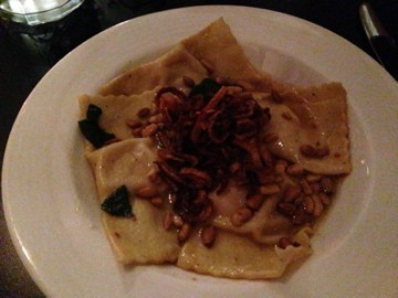 Sweet potato ravioli at The Local
