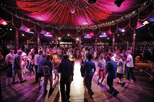 Swing dance lessons at Bards Spiegeltent with Chester and Linda Freeman of Got2Lindy Dance Studios in 2012.