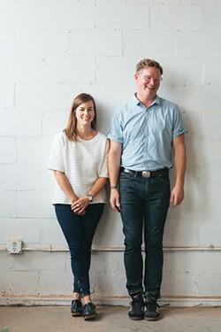 Tara DeLisio and Jonah Meyer of Sawkille Co. in Rhinbeck