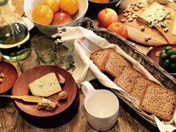 Taste delicious fresh cheeses presented beautifully.