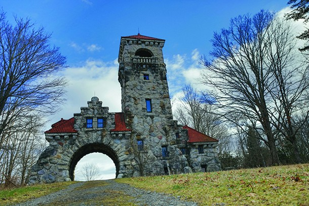 Testimonial Gateway at the Mohonk Preserve. - TOM SMITH
