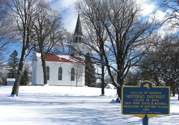 The 1810 Old School Baptist Meeting House at the corner of High and Church streets in Warwick - ROGER GAVAN