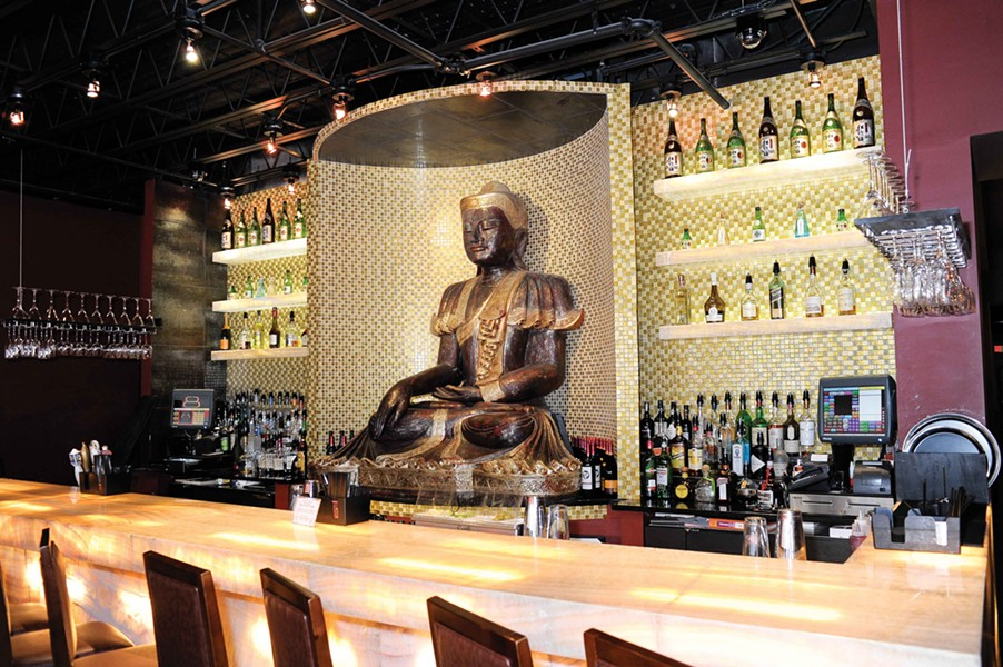 The bar at Bull and Buddha. - DAVID CUNNINGHAM