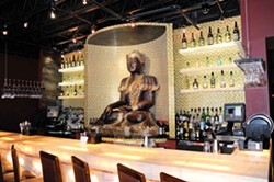 The bar at Bull and Buddha. - DAVID CUNNINGHAM