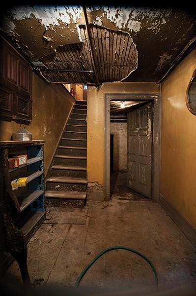 The basement foyer.