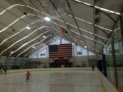 The beautiful Kiwanis Ice Skating Arena in Saugerties