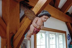 The Brandt's bought the figurehead at a Donny Malone auction in Saugerties. - PETER BRANDT