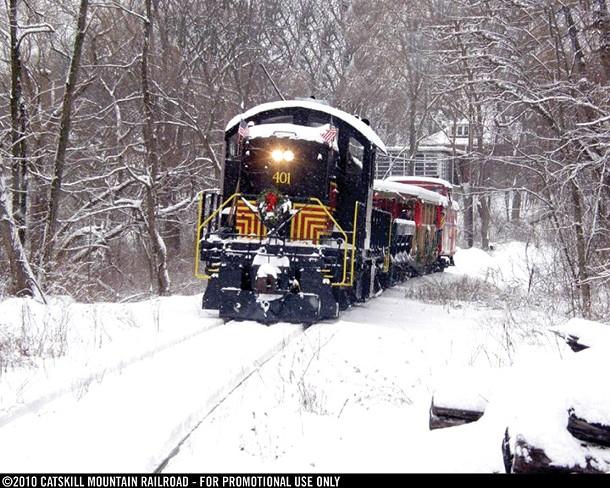 The Catskill Mountain Winter Holiday Train.