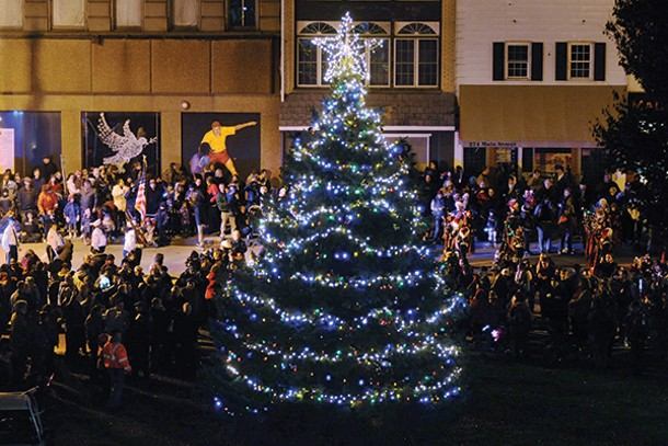 The Celebration of Lights parade, fireworks, and family day - takes place in downtown Poughkeepsie on December 6 & 7.