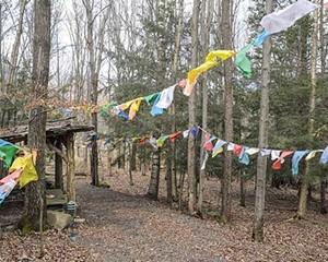 The Dharma Path at Karma Triyana Dharmachakra Monastery.