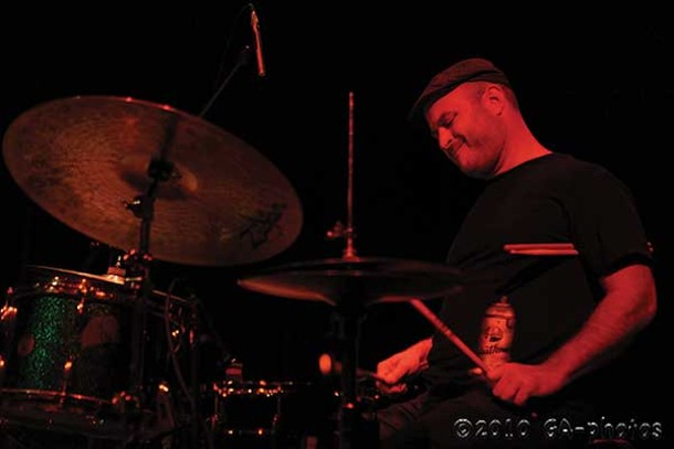The drummer Ben Perowsky. The Ben Perowsky Trio and Chris Speed's Trio Iffy will perform at BSP Lounge in Kingston on April 11. - GREG AIELLO