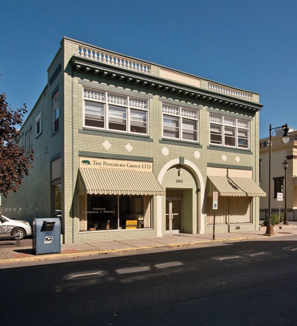 The exterior of the dual-use Morris/Strano building in Uptown Kingston. Two businesses occupy the ground floor and the family lives on the second floor. - DEBORAH DEGRAFFENREID