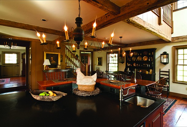 The furnishings of the home's ample sized kitchen convey a sense of warmth and tradition. - DEBORAH DEGRAFFENREID