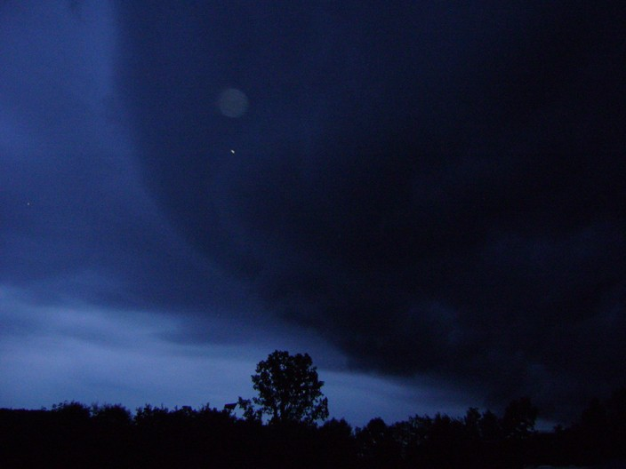 The huge black cloud on our first night at the festival. - RACHEL CAREY