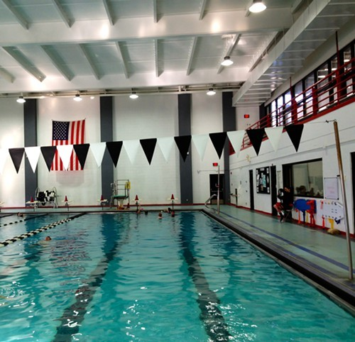The indoor pool at Bard College