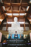 The largest indoor statue of a Buddha in the US is at the Chuang Yen Monastery in Carmel