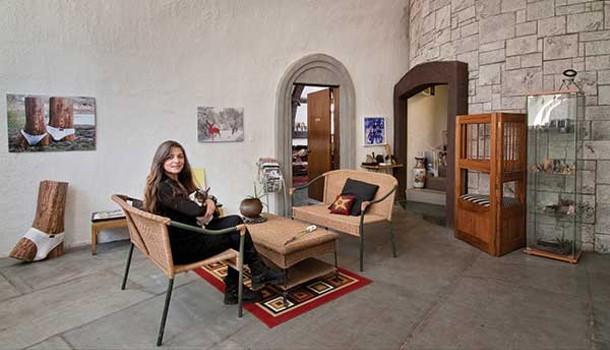 The main foyer of a Gaudí-inspired, folk art dream home in Highland.