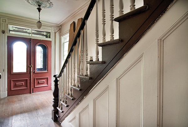 The main staircase inside the front door.