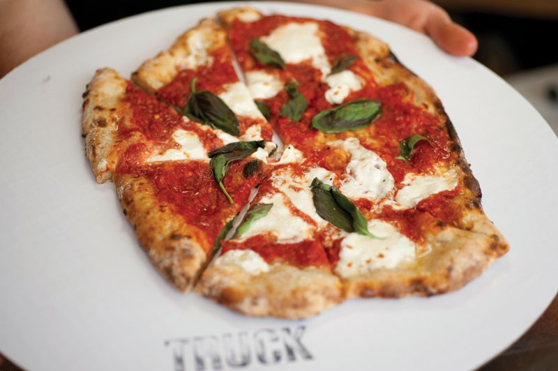 The margherita pizza from Truck Pizza in Hudson. - ROY GUMPEL