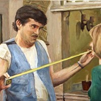 Suzanne Bennett's Sitcom Series The Measurement, 2012, oil on canvas, 23 x 19 Suzanne Bennett