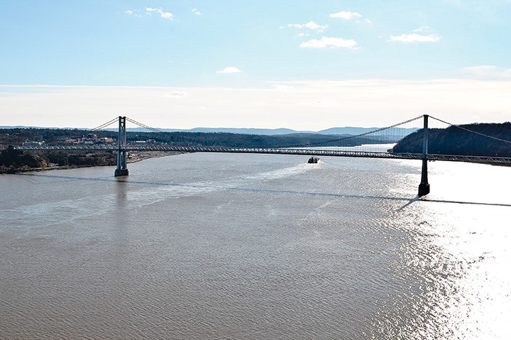 The Mid-Hudson Bridge in Poughkeepsie.